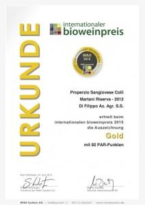 Oro Properzio 2012